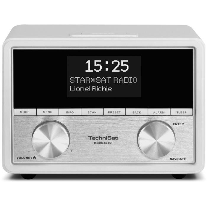 TechniSat Stereo-Uhrenradio mit DAB+/UKW »DigitRadio 80« in weiß