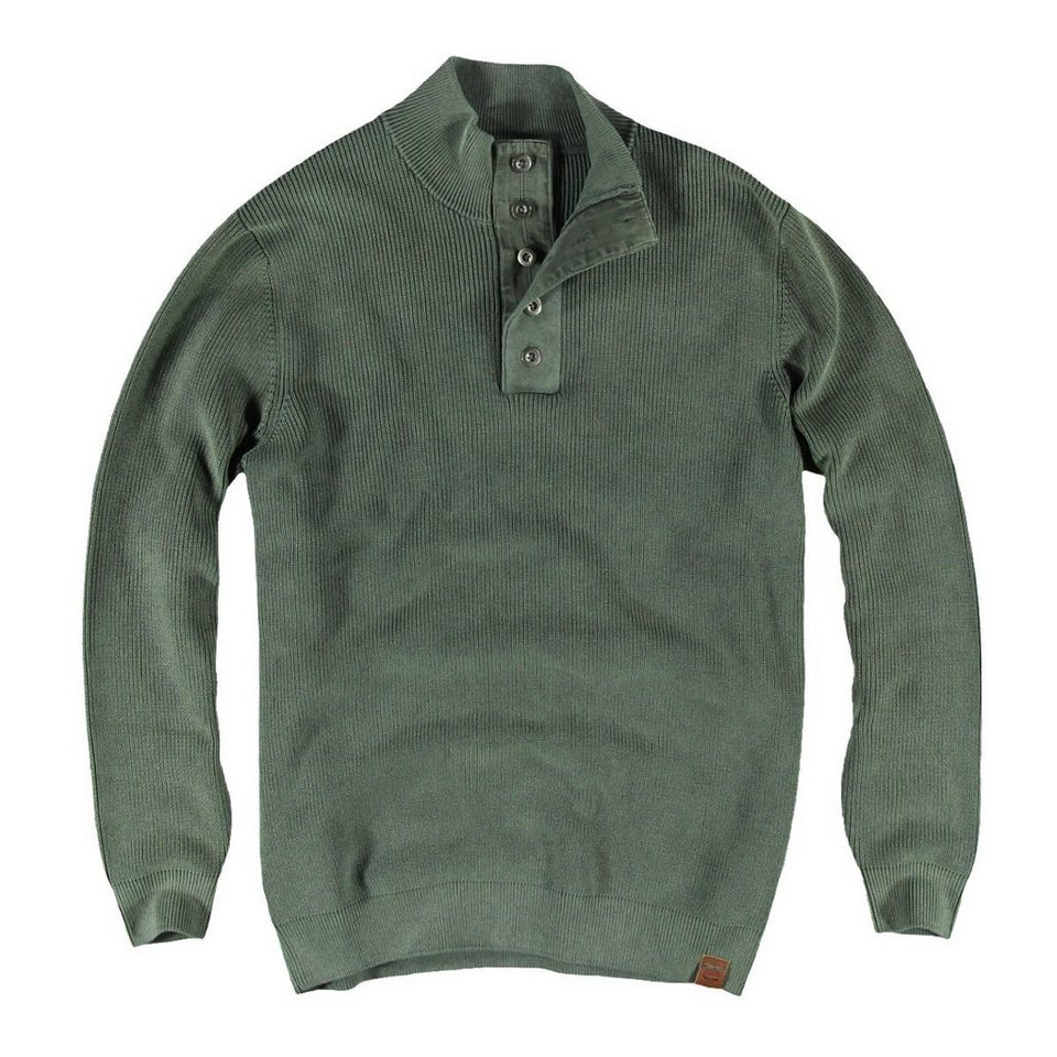 engbers Troyer-Pullover in Khakigrün