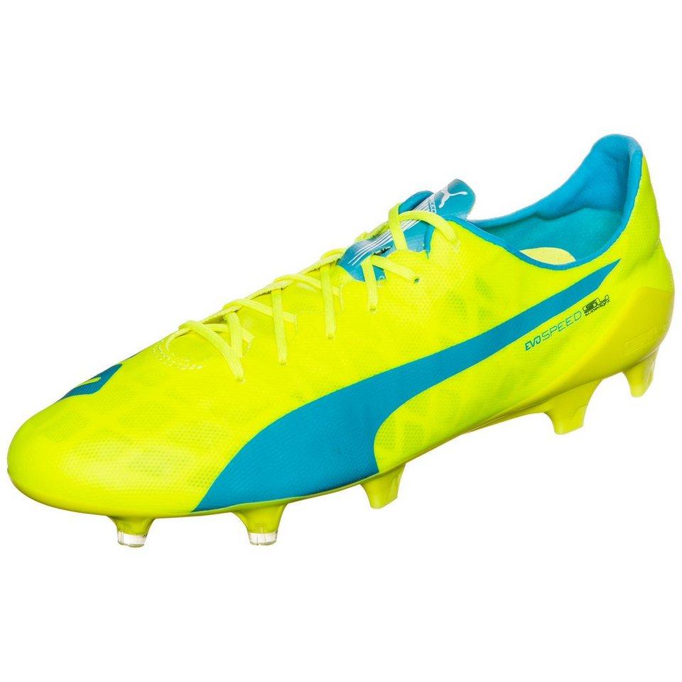 PUMA evoSPEED SL FG Fußballschuh Herren in neongelb / blau