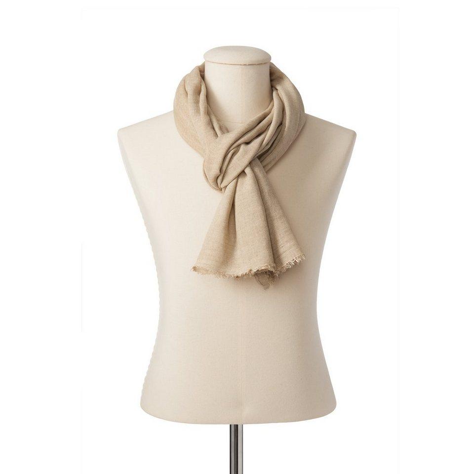 """CODELLO Männer-Schal """"Italian Style Colddyed"""" in beige"""