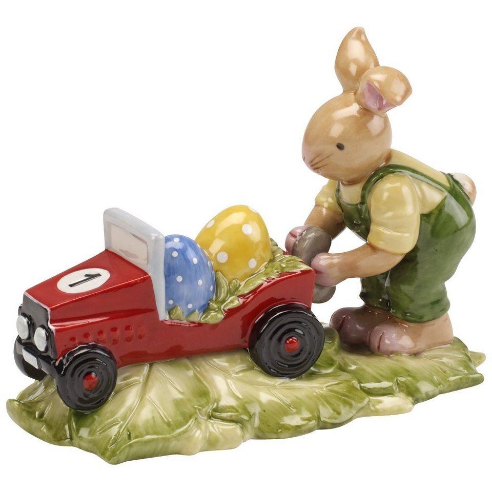 Villeroy & Boch Hasenjunge mit Auto 10,5x8cm »Bunny Family« in Dekoriert