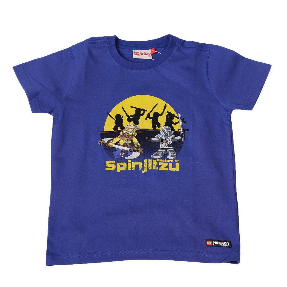 "LEGO Wear Ninjago T-Shirt Timmy ""Five Ninjas"" Shirt in blau"