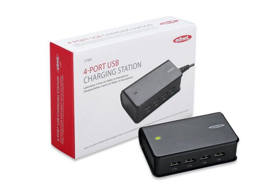Ednet Ladegerät »4-Port USB Charging Station«
