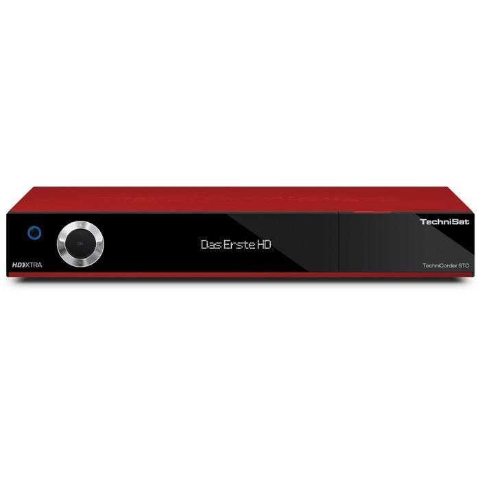 TechniSat HDTV-Digitalreceiver mit Doppel-QuattroTuner »TechniCorder ISIO STC« in rot
