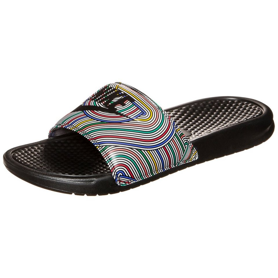 Nike Sportswear Benassi Just Do It Print Badesandale Herren in bunt / schwarz
