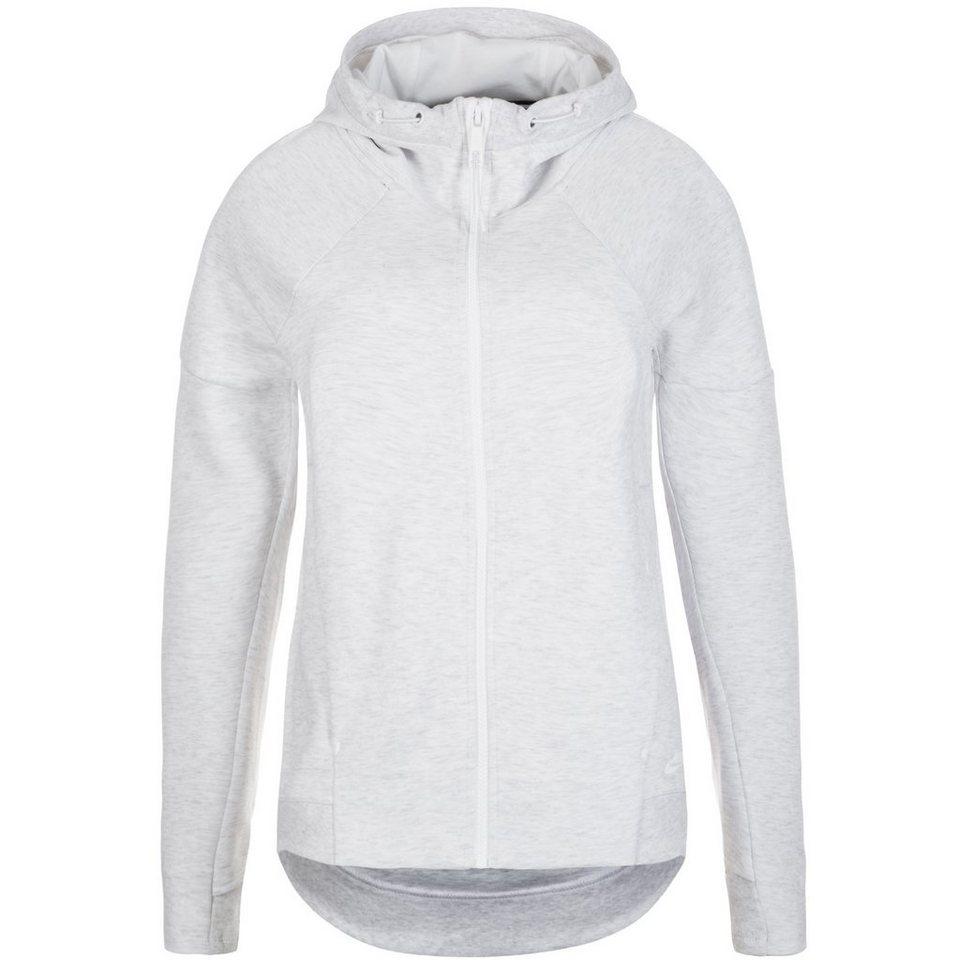 Nike Sportswear Tech Fleece Kapuzenjacke Damen in weiß / grau