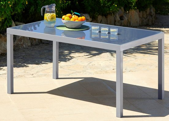 MERXX Gartentisch »Taviano«, Aluminium, 150x90 cm, silber