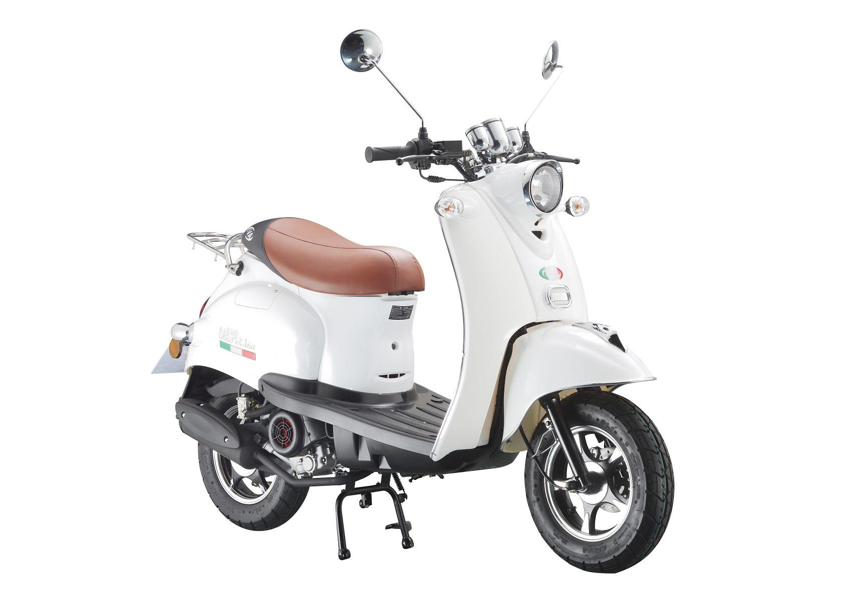 Motorroller »VENTI 50«, 50 ccm 45 km/h, für 2 Personen, weiß/braun