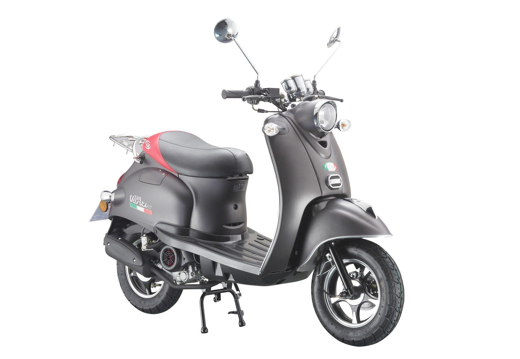 Mofaroller »VENTI 50«, 50 ccm 25 km/h, für 1 Person, mattschwarz/rot