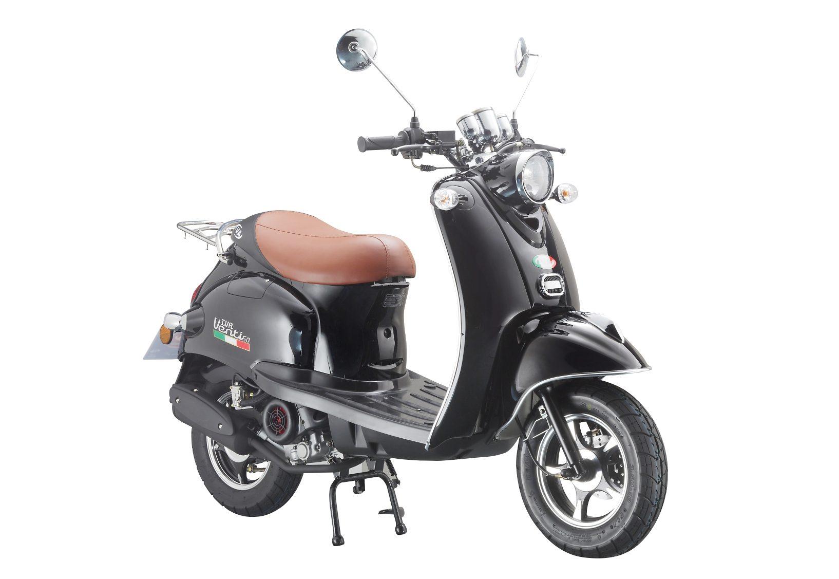 Motorroller »VENTI 50«, 50 ccm 45 km/h, für 2 Personen, schwarz/braun