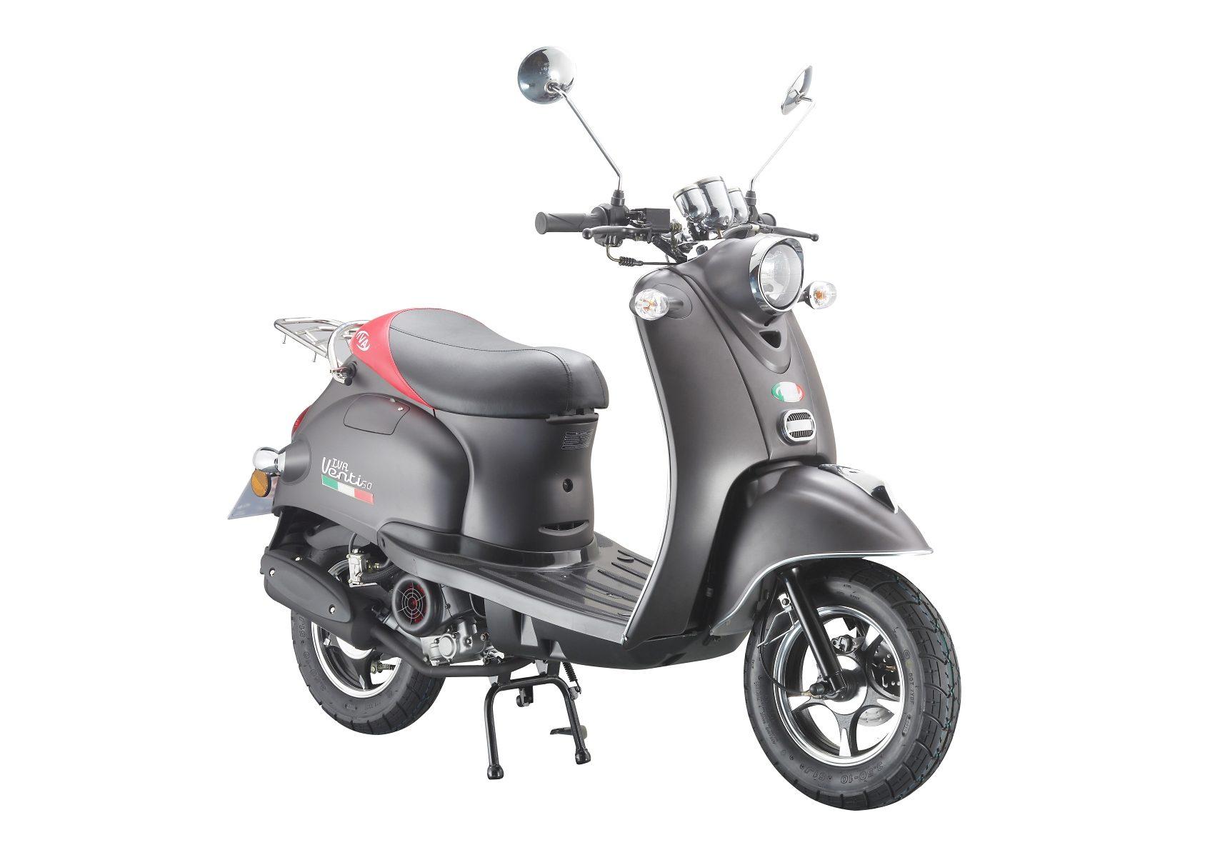 Motorroller »VENTI 50«, 50 ccm 45 km/h, für 2 Personen, mattschwarz/rot