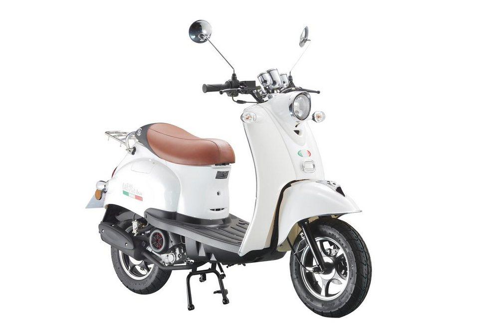 Mofaroller »VENTI 50«, 50 ccm 25 km/h, für 1 Person, weiß/braun in weiß/braun