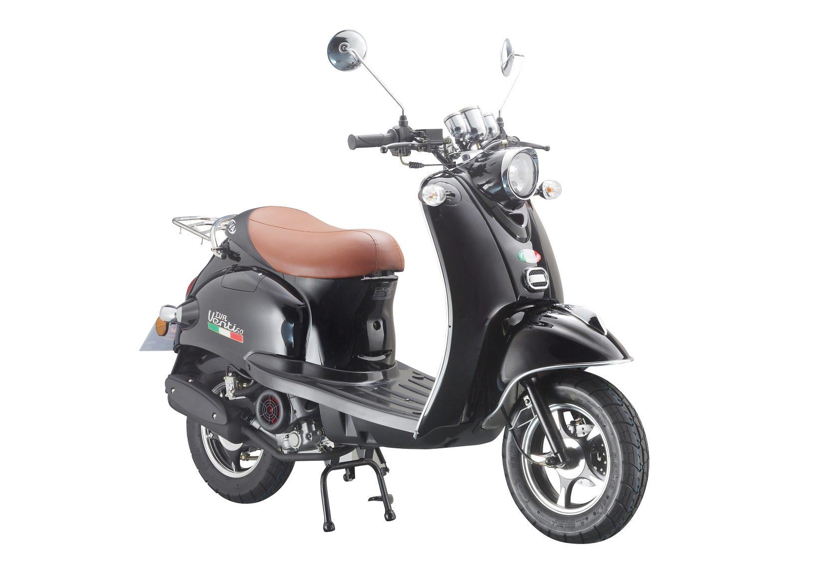 Mofaroller »VENTI 50«, 50 ccm 25 km/h, für 1 Person, schwarz/braun