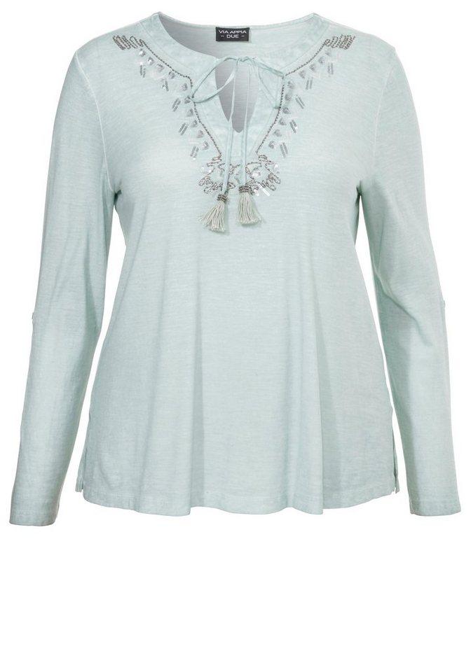 VIA APPIA DUE Baumwoll-T-Shirt »geschmückt« in MINT