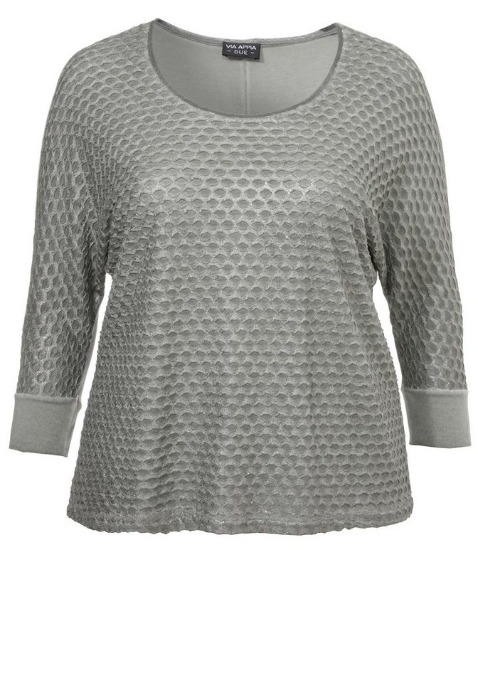 VIA APPIA DUE 3/4-Arm-Shirt »Easy Chic« in FANGO