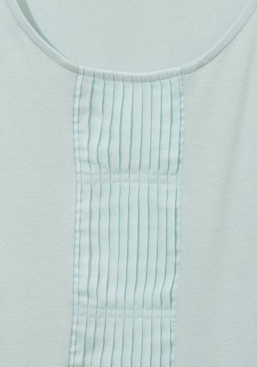 VIA APPIA DUE Hochwertiges Kombi-Top mit Plissee-Einsatz mit Plissee-Einsatz