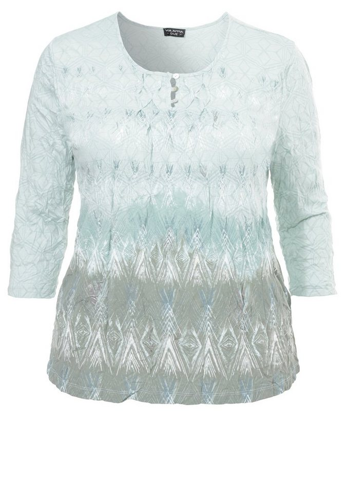 VIA APPIA DUE 3/4-Arm-Shirt »Modern Ethno Style« in MINT