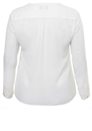 VIA APPIA DUE Feminine Kombi-Bluse in Weiß