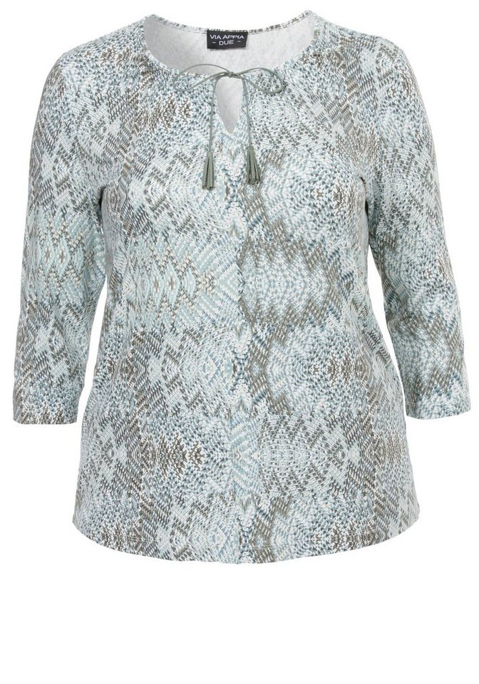 VIA APPIA DUE Jersey-Shirt /Tunika »Modern Ethno« in MINT MULTICOLOR