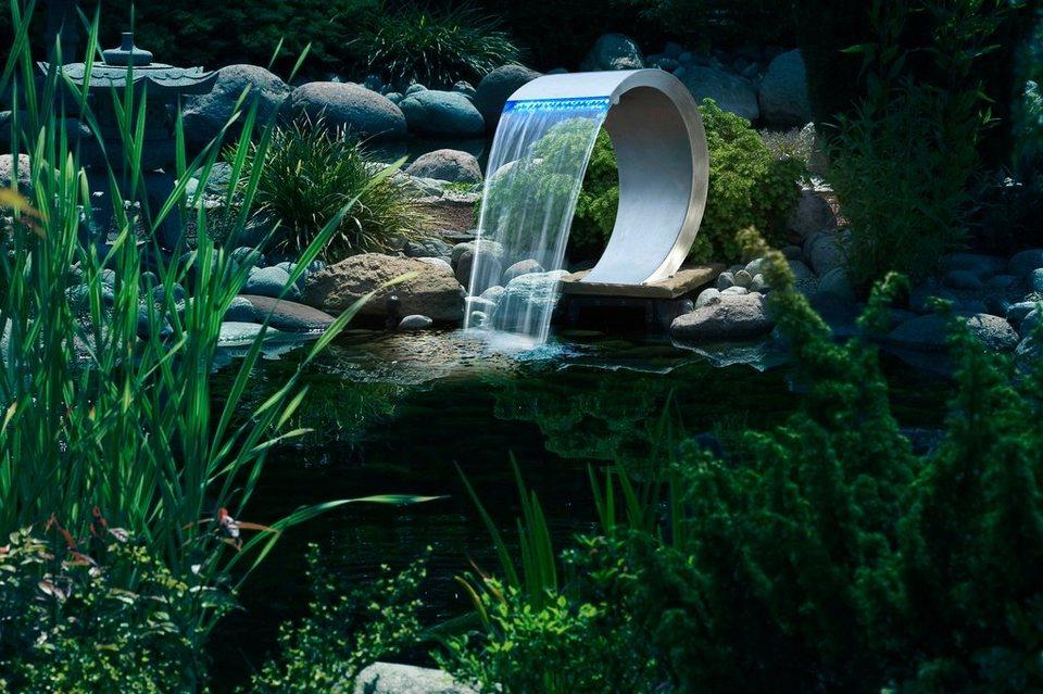 Wasserfall »Mamba mit LED« in silberfarben