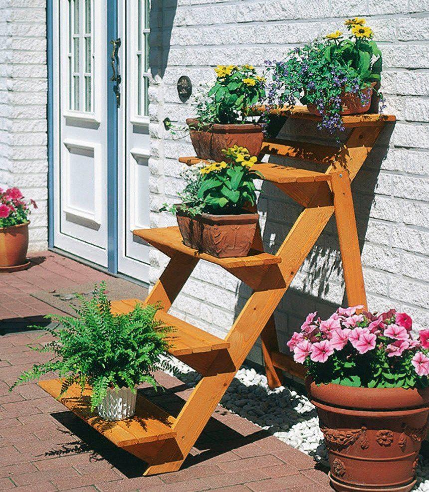 Promadino Rahmenholz »Blumentreppe groß« B/T/H: 78/100/109 cm