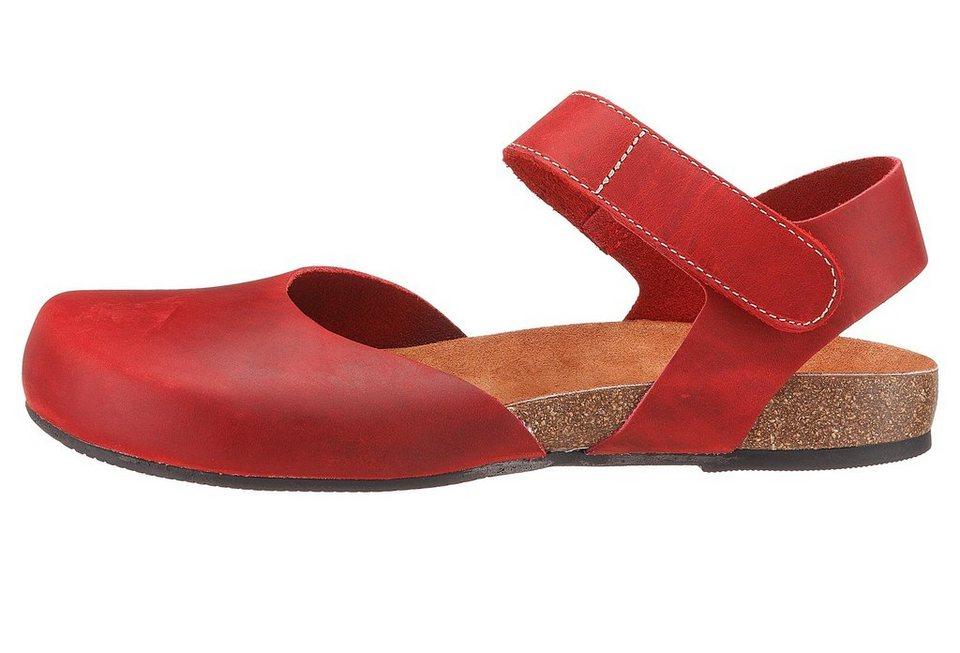 Eddie Bauer Fettleder-Sandale in Rot
