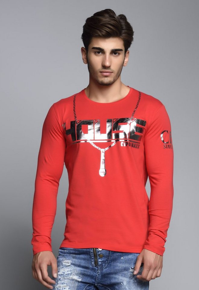 Cipo & Baxx Longsleeve Print in Red
