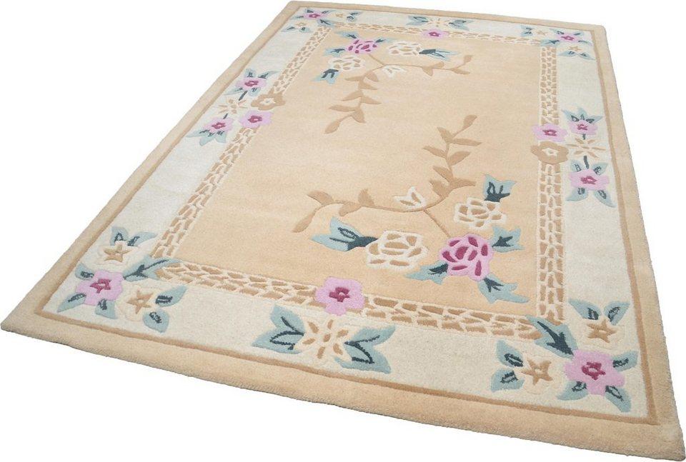 Teppich, Theko, »Lifou«, reine Schurwolle, handgewebt in beige