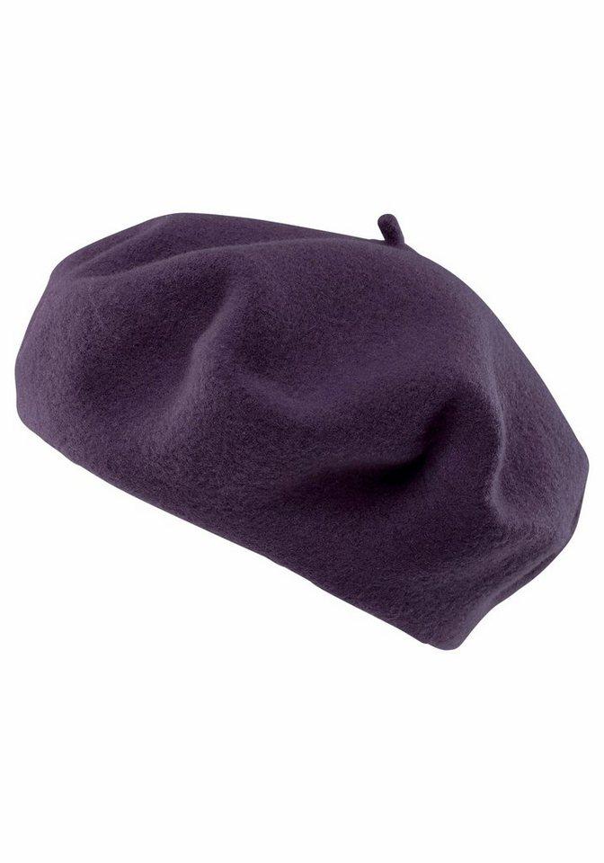 Seeberger Baskenmütze in klassischer Form in lila