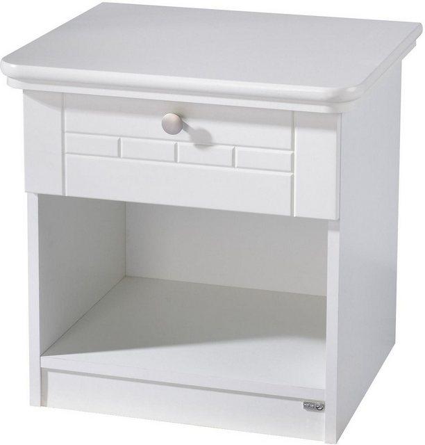 Roba Nachttisch »Florenz« | Schlafzimmer > Nachttische | Weiß | Roba®