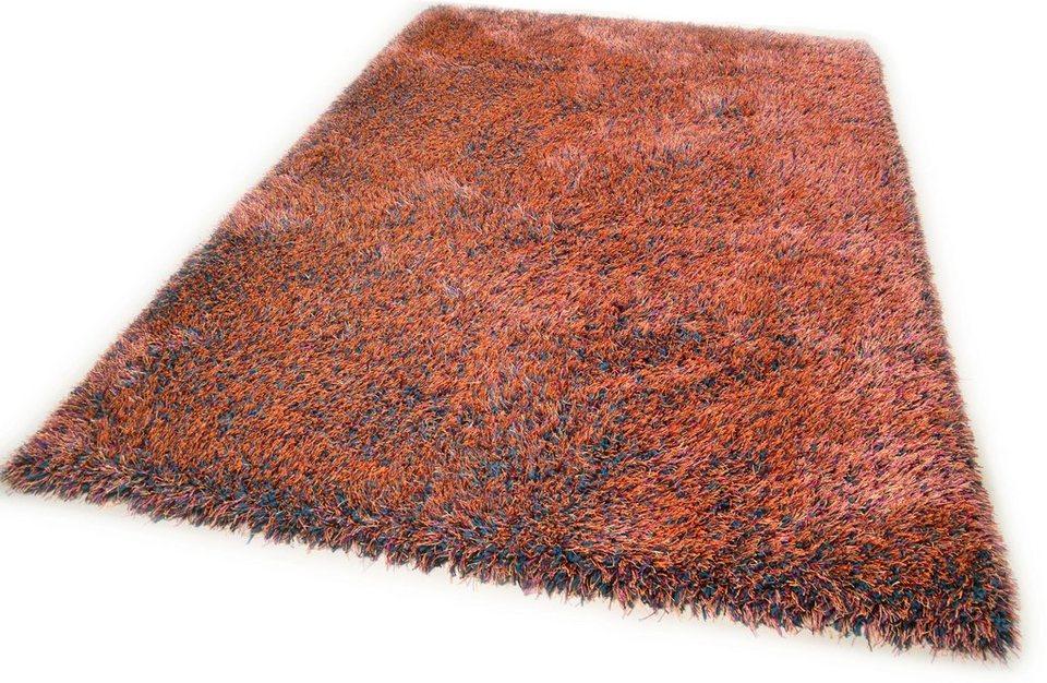 Hochflor-Teppich, Theko, »Happy Super«, Höhe 40 mm, handgetuftet in multi terra
