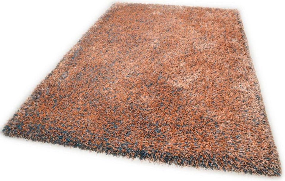 Hochflor-Teppich, Theko, »Happy Super«, Höhe 40 mm, handgetuftet in multi orange