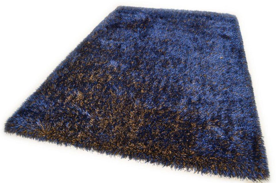 Hochflor-Teppich, Theko, »Happy Super«, Höhe 40 mm, handgetuftet in multi blau