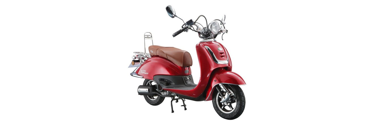 Retro-Motorroller »RETRO ROMA«, 50 ccm 45 km/h, für 2 Personen, rot/braun