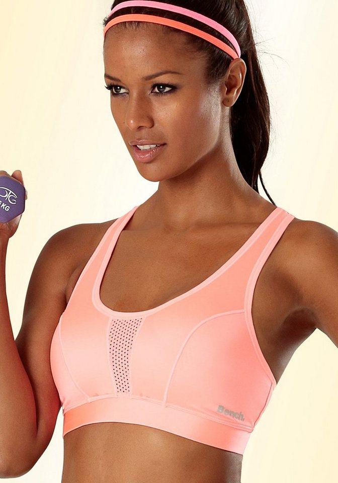 Bench Sport-BH für Sportarten mittlerer Belastbarkeit in neon-orange