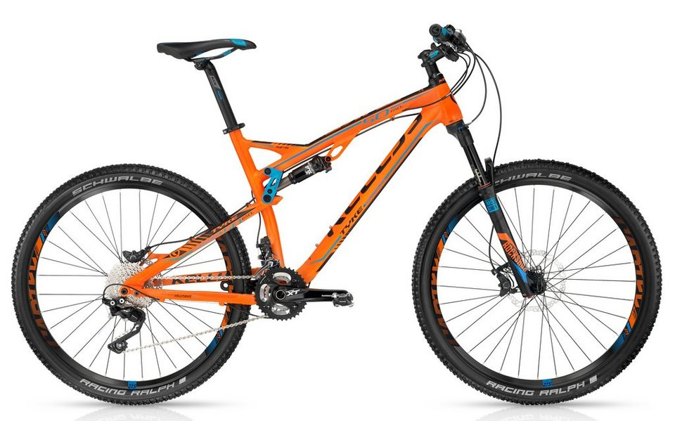 Kellys Fully MTB, 27,5 Zoll, 20 Gang Shimano Kettenschaltung, »Tyke 50« in orange
