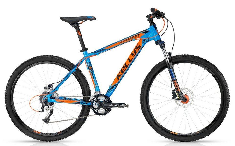 Kellys Hardtail MTB, 27,5 Zoll, 24 Gang Shimano Kettenschaltung, »Spider 30 Blue« in blau-orange