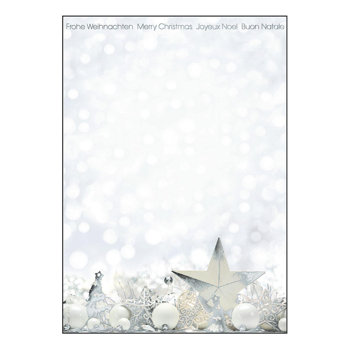 Sigel Motivpapier »White Stars«
