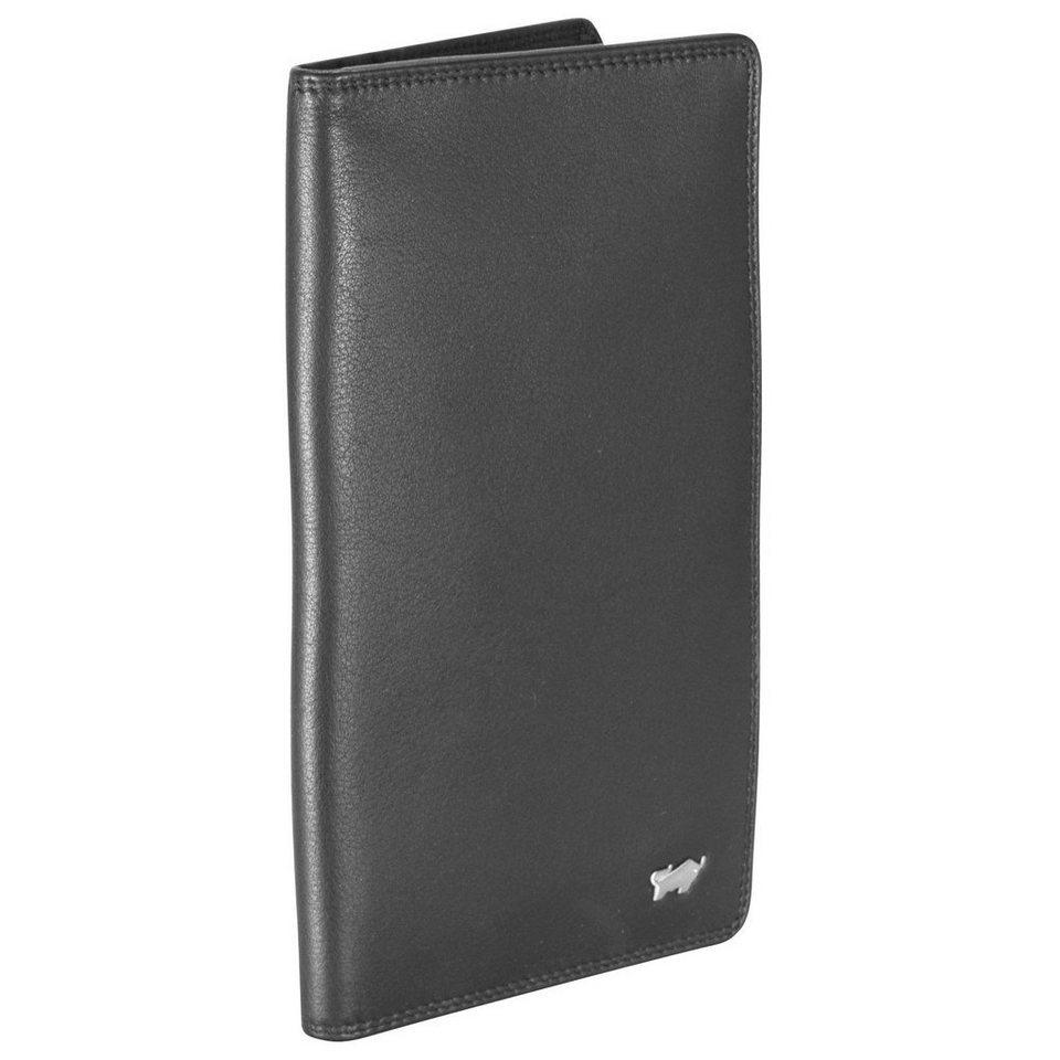 Braun Büffel Golf Brieftasche Leder 9 cm in schwarz