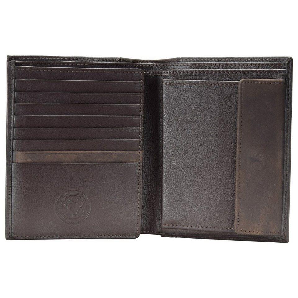 Wenger Nexus Geldbörse Leder 10 cm in dunkelbraun