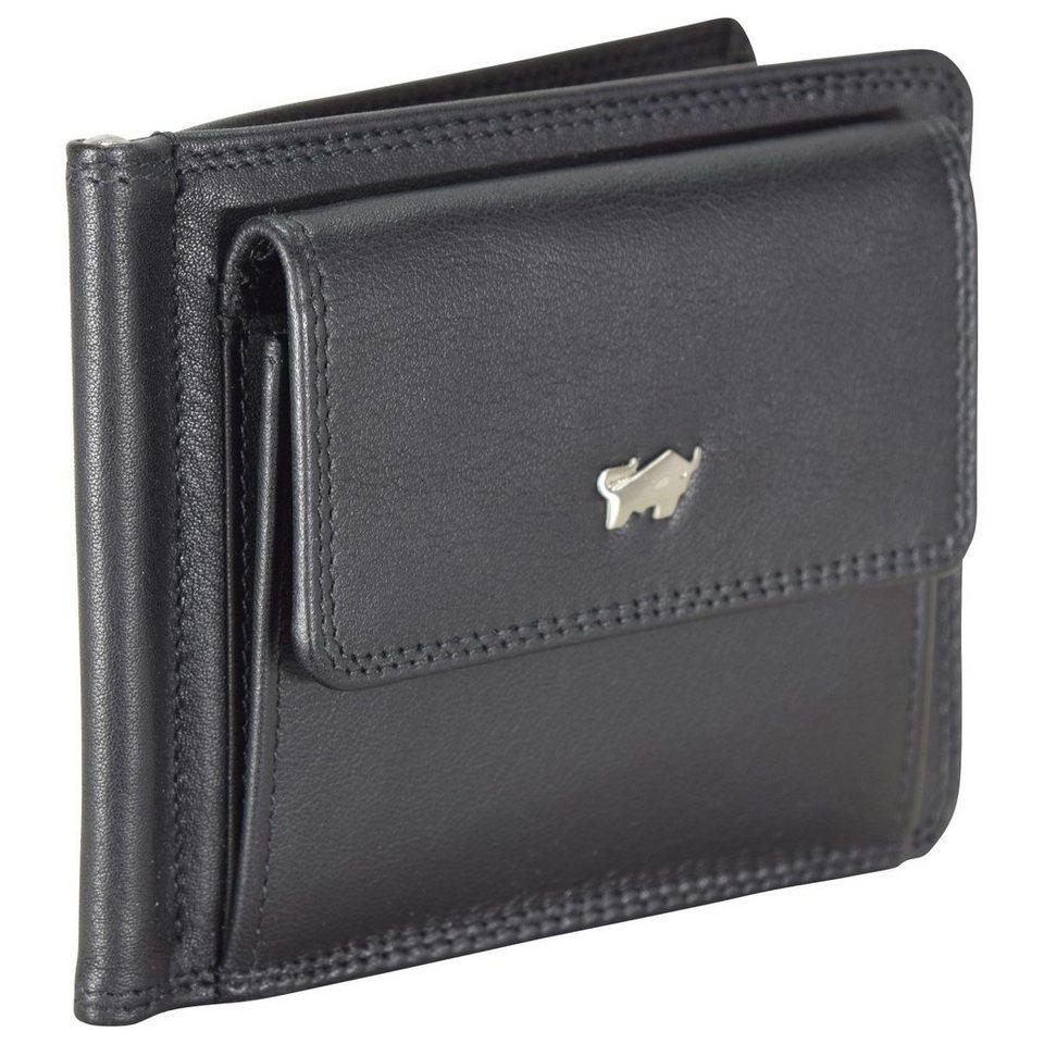 Braun Büffel Golf Dollarclipbörse Leder 11,5 cm in schwarz
