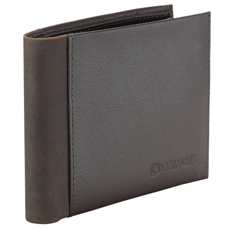 Wenger Nexus Geldbörse Leder 12 cm in dunkelbraun