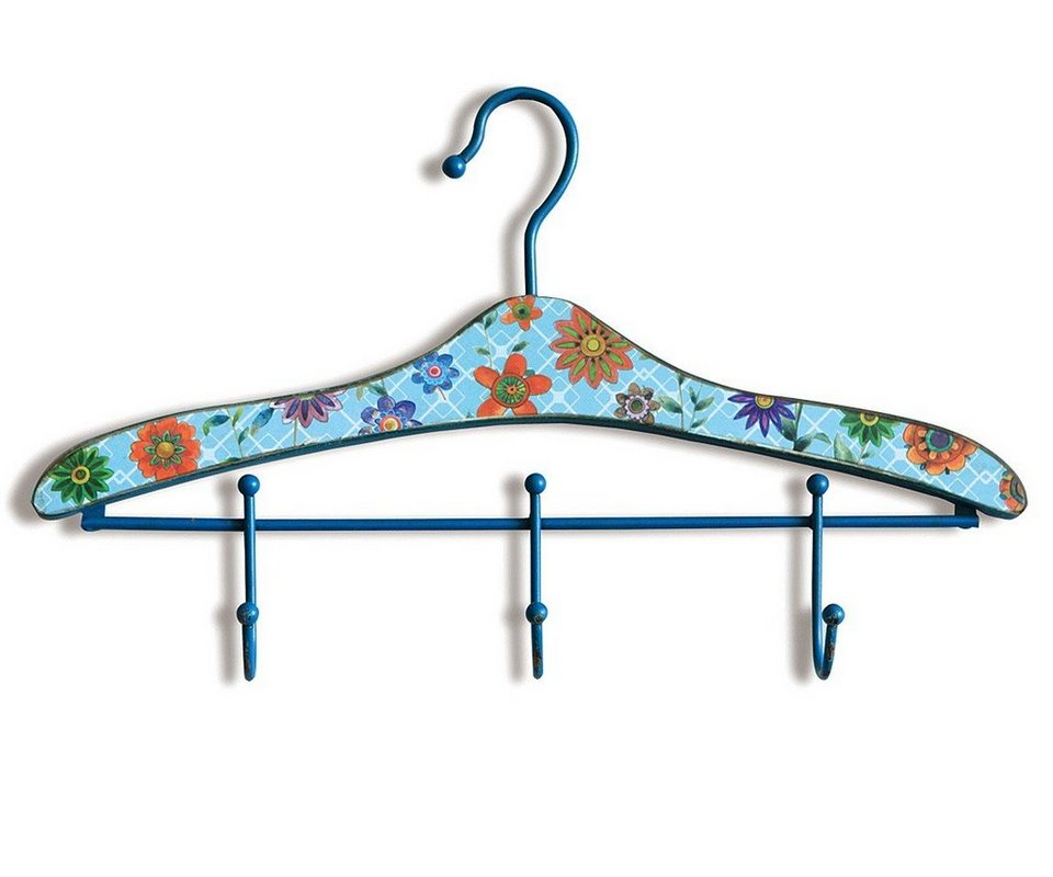 DELIFE Kleiderhaken Cintre 46x30 cm Bunt mit 3 Haken Garderobenhaken in Farbig