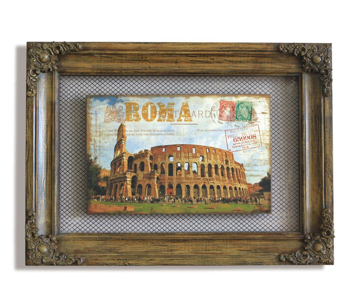 DELIFE Wandbild Colosseum Braun 58x42 cm rustikale »Wandbild Colosseum Braun 58x42 cm rustikale«