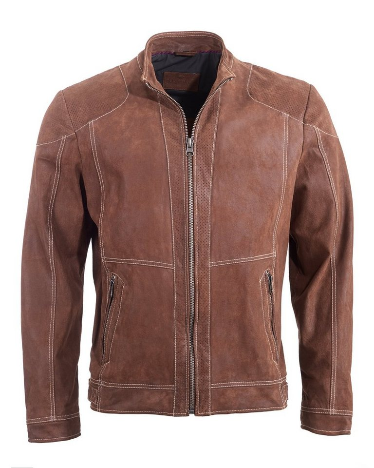 TOM TAILOR Lederjacke, Herren 6010007 in whisky