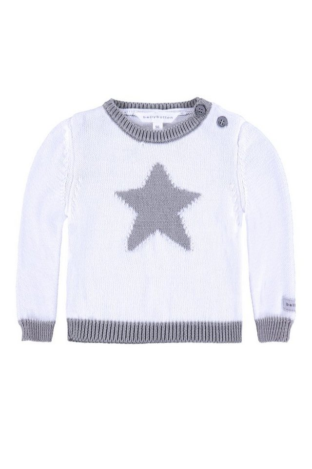 BELLYBUTTON Baby Pullover »mit Stern« in bright white