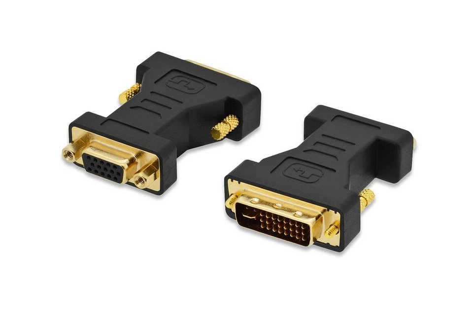 Ednet DVI »DVI Adapter, DVI(24+5) - HD15, St/Bu«