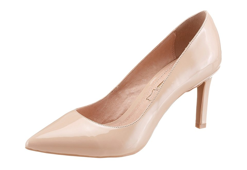Buffalo Pumps in schmaler spitzer Form in nude