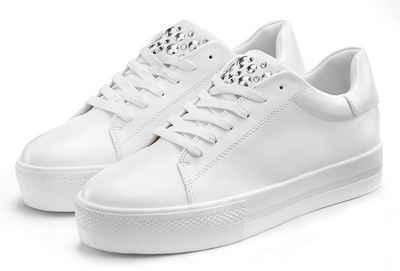 LASCANA Sneaker mit Plateau und kleinen Steinchen