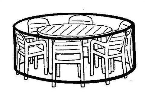 Sitzgruppenschutzhülle in grau